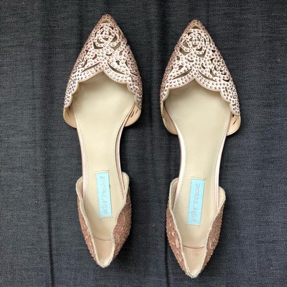 2498da96d15d Betsey Johnson Shoes - Blue by Betsey Johnson Lucy Flat Blush Satin